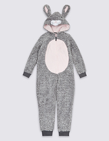Marks and Spencer Bunny Hooded Onesie (1-16 Years)