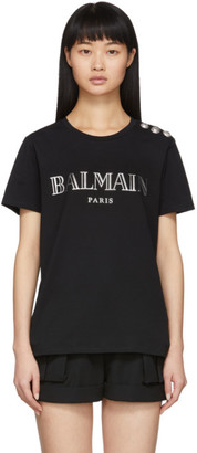 Balmain Black 3-Button Logo T-Shirt