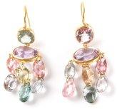 Marie Helene De Taillac 22kt yellow gold 'Gabrielle' tourmaline earrings