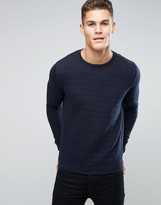 French Connection Crew Neck Quilted Square Sweatshirt