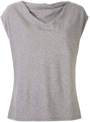 RtA draped-design cap-sleeve T-shirt