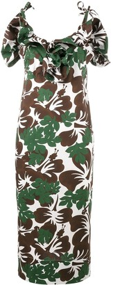 Rosie Assoulin Blooming Onion tropical print dress