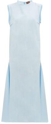 ALBUS LUMEN Agaso Sleeveless Linen Dress - Womens - Light Blue