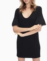 Splendid Rayon Jersey Flutter Sleeve Dress