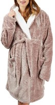 Topshop Teddy Hooded Chevron Maternity Robe