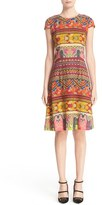 Etro Women's Ribbon Print Cap Sleeve Dress