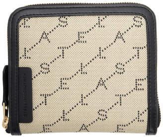 Stella McCartney Beige Square Monogram Zip Around Wallet