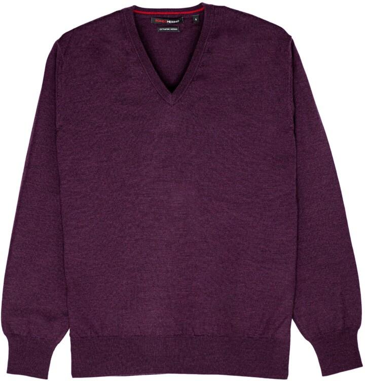 Romeo Merino - Merino Wool V-Neck Sweater Concord