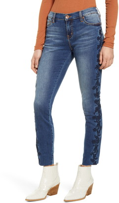 Band of Gypsies Lola Embroidered Skinny Jeans