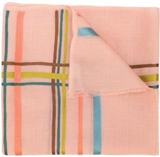 Janavi K. horizontal stripes cashmere scarf