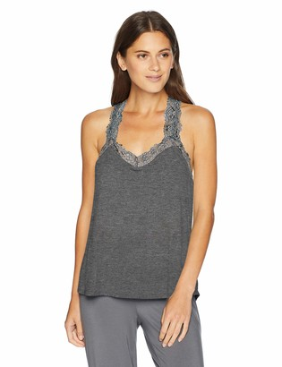 PJ Salvage Women's Lounge Lace Cami Tank Top