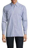Canali Gingham Casual Button-Down Shirt