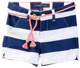 Tommy Hilfiger Belted Rugby Stripe Short (Little Girls)