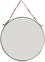 Nkuku Kiko Round Mirror - Antique Zinc - Large