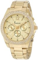 Freelook Women's HA6305G-3 All Gold Band And Dial Chronograph Swarovski Bezel Watch