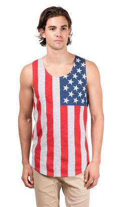 N. Brooklyn Surf BROOKLYN SURF Men's American Flag Jersey Tank Top Sleeveless Stars Stripes Shirt Gray Medium