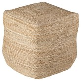 "Surya Beige Knotted Cube Pouf 18""x18""x18"""