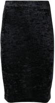 Balenciaga Cycling crushed-velvet mini-skirt