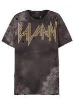 Balmain Logo-print Distressed Cotton T-shirt