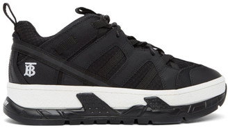 Burberry Black Leather Union Sneakers