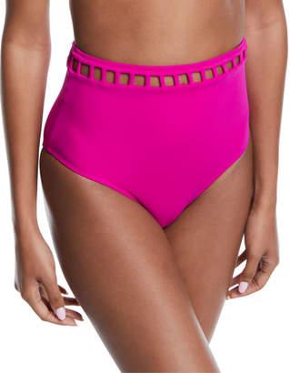 Oye Swimwear Ela Cutout High-Waist Bikini Swim Bottoms