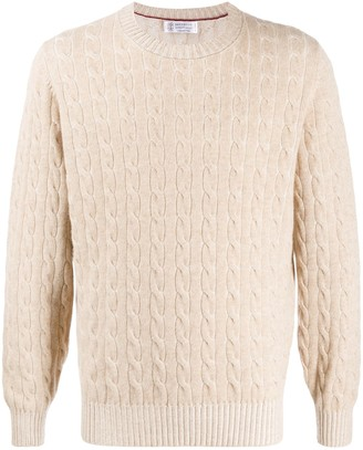 Brunello Cucinelli Cashmere Cable-Knit Jumper