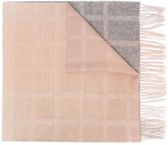 Paul Smith Color-Block Check Scarf