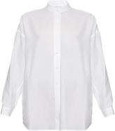 Helmut Lang Open-back cotton-twill shirt