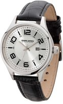 Jorg Gray Signature Collection Women's Quartz Watch with Silver Dial Analogue Display and Black Leather Strap JGS2571