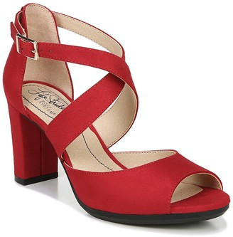 LifeStride Allison Peep Toe Heeled Sandal - Wide Width Available