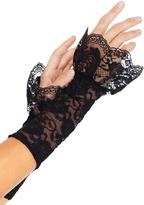Leg Avenue Black Lace Gauntlet Fingerless Gloves