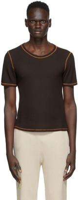 Phlemuns Brown Backless T-Shirt