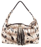 Carlos Falchi Snakeskin Hobo Bag