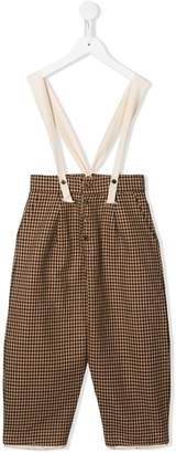 Factory Little Creative Kids houndstooth trousers with suspenders