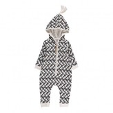 Moumout Penguin Otto Zip-Up Hooded Romper