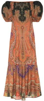 Etro Printed wool and silk maxi dress