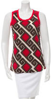 Tory Burch Sleeveless Embroidered Top