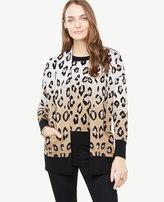 Ann Taylor Leopard Pocket Cardigan