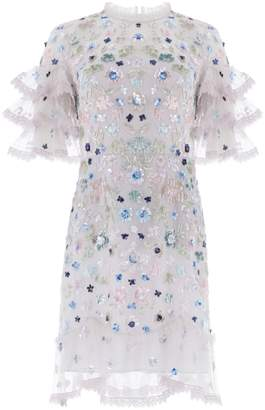 Needle & Thread Meadow Sequin Mini Dress