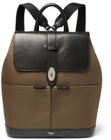 Mulberry Reston Leather and Canvas Backpack
