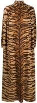 Mes Demoiselles tiger print maxi shirt dress