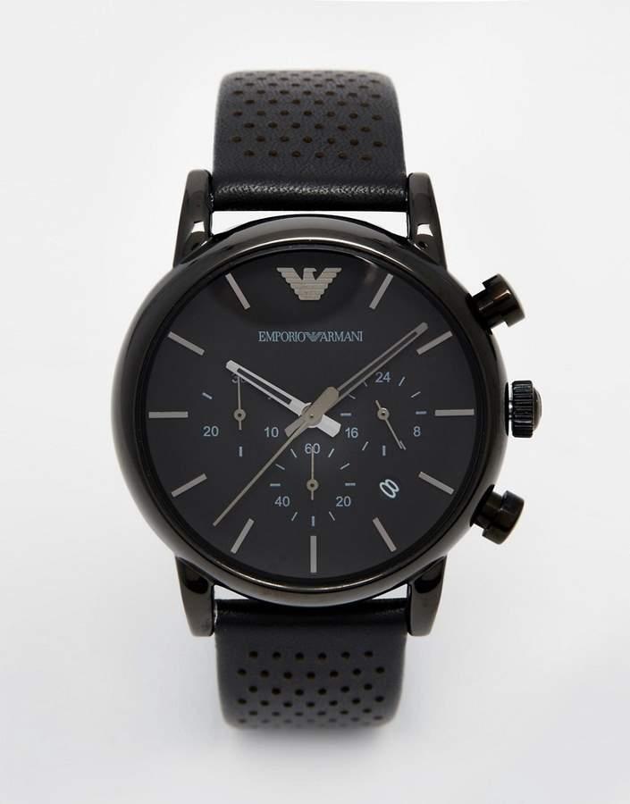 Emporio Armani AR1737 watch in black