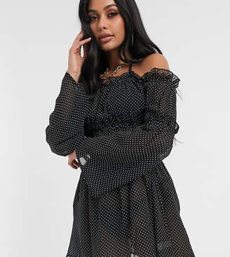 South Beach Off The Shoulder Mini Dress-Black