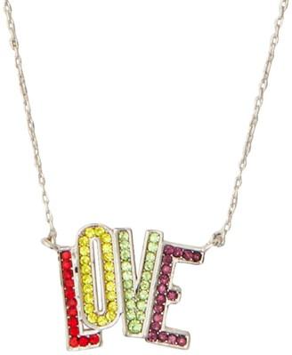Kate Spade Multicolor Crystal Mini Love Pendant Necklace