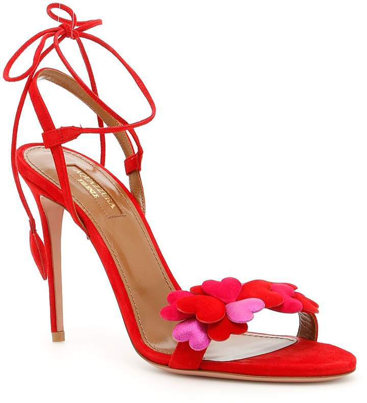 Aquazzura Happy Hearts Sandals