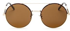 Bottega Veneta Women's Brow Bar Round Sunglasses, 56mm