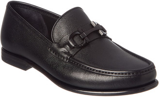 Salvatore Ferragamo Gancini Bit Leather Moccasin