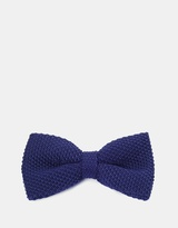 Blue Knitted Bow Tie