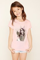 Forever 21 Girls Sequin Graphic Tee (Kids)