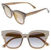Jimmy Choo Women's Mayelas 50Mm Cat Eye Sunglasses - Brown/ Glitter